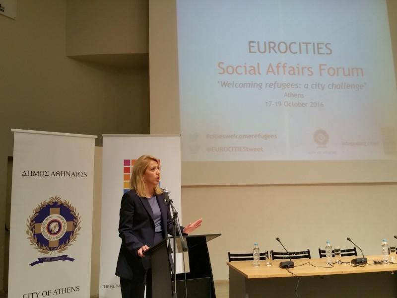 Ρένα Δούρου στο Eurocities Social Affairs Forum για το προσφυγικό