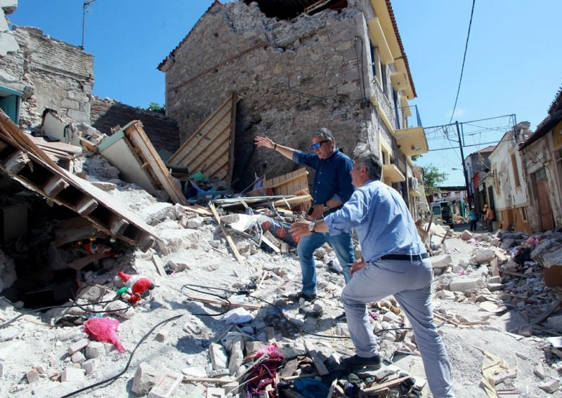 σεισμό περιοχές της Λέσβου Πατούλης