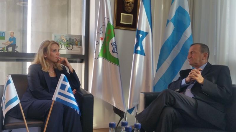 Συνάντηση της Περιφερειάρχη Αττικής με τον Δήμαρχο του Τελ Αβίβ